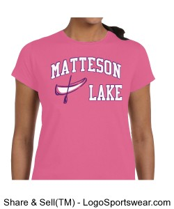 Matteson Lake Canoe LADIES Pink Design Zoom