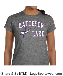 Matteson Lake Canoe LADIES Grey Design Zoom