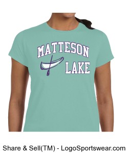 Matteson Lake Canoe LADIES Mint Design Zoom