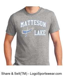 Matteson Lake Canoe Ash Grey Design Zoom