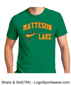 Matteson Lake Canoe Green Design Zoom