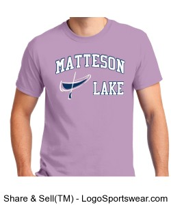 Matteson Lake Canoe Purple Design Zoom