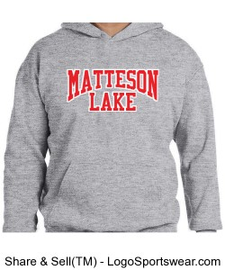 Matteson Lake KIDS Red and white Design Zoom