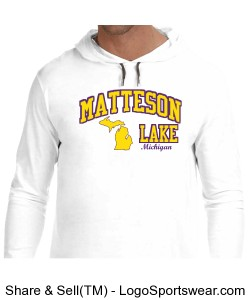 Matteson Lake Hoodie White Design Zoom