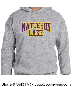 Matteson Lake Sweatshirt KIDS Purple and GOld Design Zoom