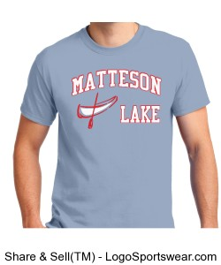 Matteson Lake Canoe Light Blue Design Zoom