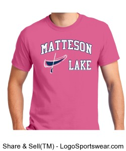 Matteson Lake Canoe Pink Design Zoom