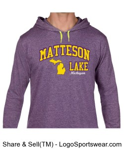 Matteson Lake Hoodie Purple Design Zoom